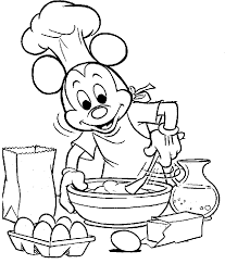 Small Picture Mickey Mouse Was Cooking Coloring Pages Coloring Pages