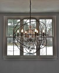 large foyer globe chandelier lovely chandeliers for foyers creative of on chandelier dining room lighting wood