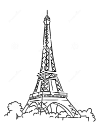 Small Picture Coloring Page Eiffel Tower Pages Free Kawaii For Girls To Print