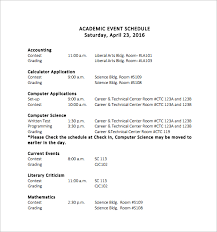 sample event schedule template documents in word pdf academic event schedule template