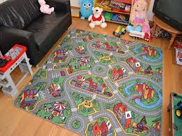big square extra large size boys kids play city road rug