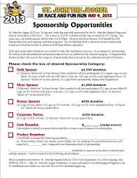 sponsorship forms for fundraising form donation and sponsorship form