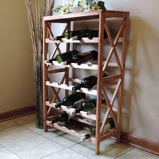 standing wine rack. Rustic Wine Rack-Space Saving Free Standing Bottle Holder For Kitchen, Bar, Rack I