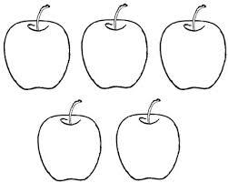 Preschool Fruit Coloring Pages Preschool Apple Template Coloring