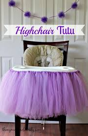 a simple no sew highchair tutu that dresses up any birthday girl s chair