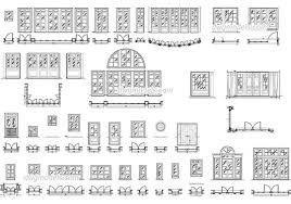 doors and windows set dwg cad file free