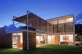 Steel Framed Houses Architecture Front Yard Modern Minimalist Block House Design