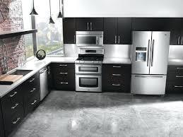 kitchen aid refrigerator drawer monochrome kitchen design with black kitchen cabinet and stainless steel kitchen appliance