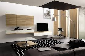 masculine living room with media