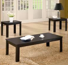 Black Coffee Table And End Table Sets | Coffee Tables Decoration Throughout Coffee  Table With Matching