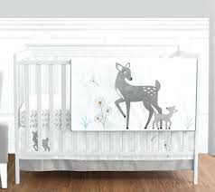 forest baby bedding sweet gray white deer forest baby boys girls bedding crib set forest green