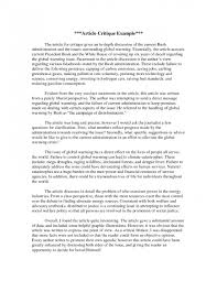 007 How To Write Critique Essay Example Resume Sample Of Critical