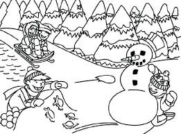 Winter Scene Coloring Pages Coloring For Kids 2019