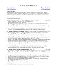 Project Manager Resume Objectives Marketing Manager Resume