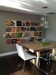 vinyl record display s wall mount shelf diy frame