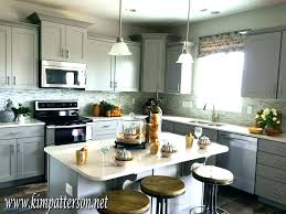gray kitchen white cabinets blue grey medium size of off cabinet paint colors