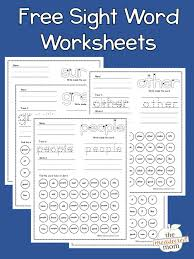 Sight words sight word resources. Sight Word Worksheets The Measured Mom