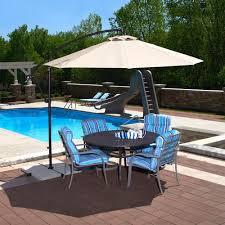 solar led lighting included patio umbrellas furniture coolaroo 12 ft round cantilever patio umbrella