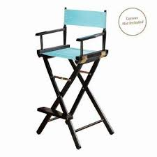 director s chair black solid wood frame
