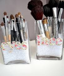 diy makeup brush holder use letters from michaels ribbon you have and brooklyns hair clips