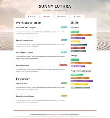 Free Resume Html Template 28 Free Cv Resume Templates Html Psd Indesign Web
