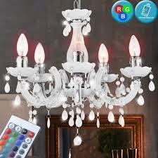 Kristall Lampe Pendel Led Rgb Kron Flur Dimmer Leuchte