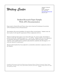 Example College Research Paper Mla Format Academic Examples Good