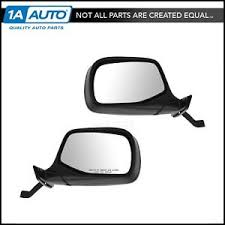 Black Manual Mirrors Pair Set of 2 for Bronco Pickup Truck F150 F250 ...