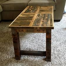 Vintage Brick Baking Pallet Coffee Table With Metal Pallet Coffee Table For Sale
