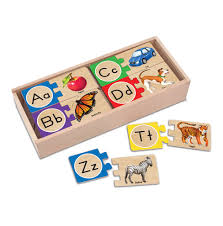 melissa doug letters wooden puzzle cards