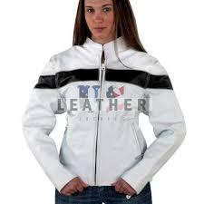 white las fashion custom leather jacket