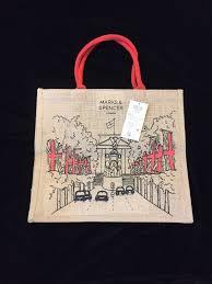marks spencer london jute tote bag buckingham taxi victoria m s new uk ebay