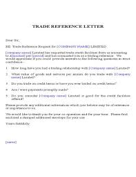 Bunch Ideas Of Trade Reference Letter Sample On Resume Thank You