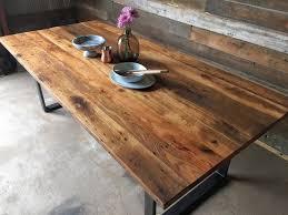 industrial wood dining table industrial modern reclaimed wood dining table u shaped metal legs