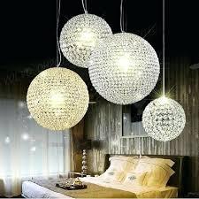 ursula large crystal ball chandelier pendant light floating