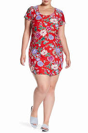 Planet Gold Size Chart Planet Gold Womens Plus Kylie Floral Daytime Mini Dress At