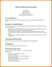 Sample Resume For Office Assistant With No Experience Resume For