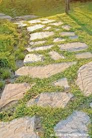Flagstone Lawn Path.