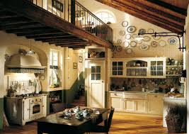 Kitchen:Rustic British Country Kitchen With Coffered Wood Ceiling And  Shabby Island Charming British Country