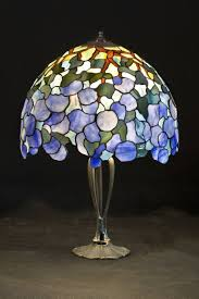saatchi art lamp hydrangea stained glass lamp sculpture by marta piasecka