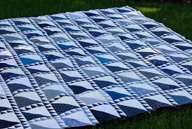 Blue and White Quilt Top &  Adamdwight.com