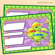 Ninja Girl Birthday Invitations Feedfox Co