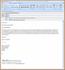 How To Email Resume And Cover Letter Sample Employer Your