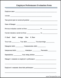 Employee Performance Appraisal Form | Templatezet