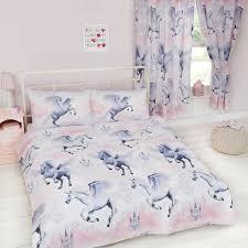 unicorn duvet cover sets kids girls pink purple