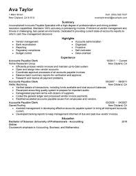 Standard Accounts Payable Specialist Resume Sample
