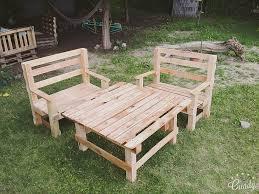 pallets outdoor furniture. Pallet Outdoor Seating Set Pallets Furniture