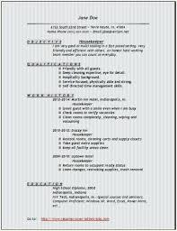 Resume Template Housekeeper Resume Samples Free Creative Sample Magnificent Housekeeper Resume