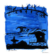 surf artwork giclee print