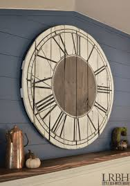 make this pallet roman numeral clock by upcycling pallets